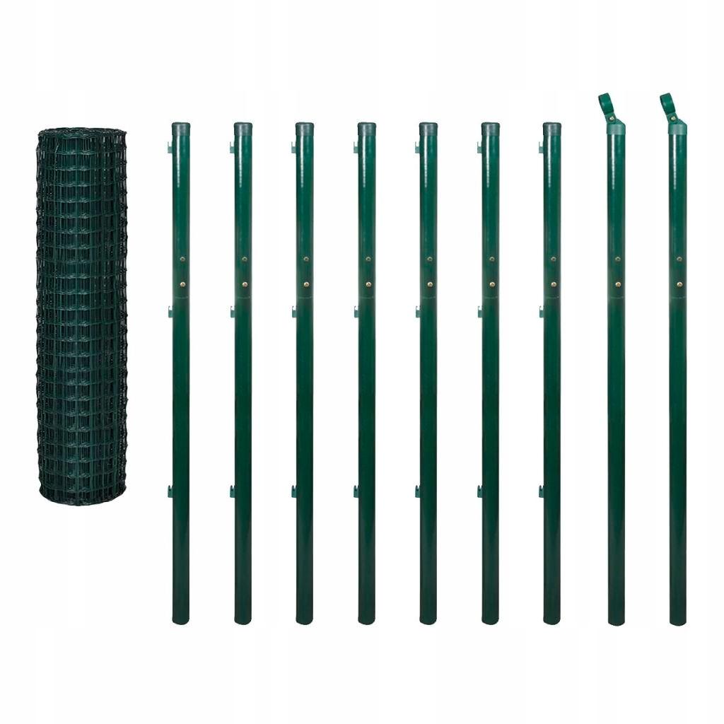 Euro ogrodzenie, 10 x 1,7 m, zielone, stalowe