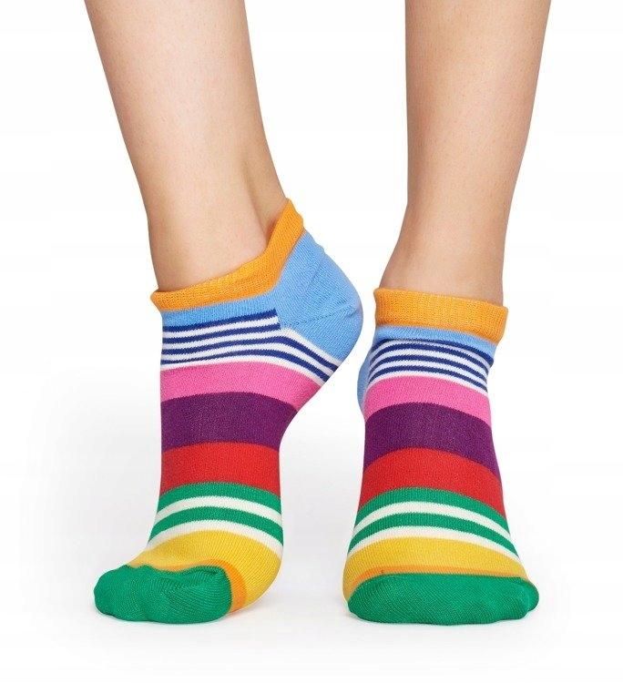 Kolorowe stopki LOW Happy Socks 41-46 | MST05-3000