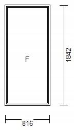 OKNO PCV 816 x 1842 FIX - WYPRZEDAŻ !
