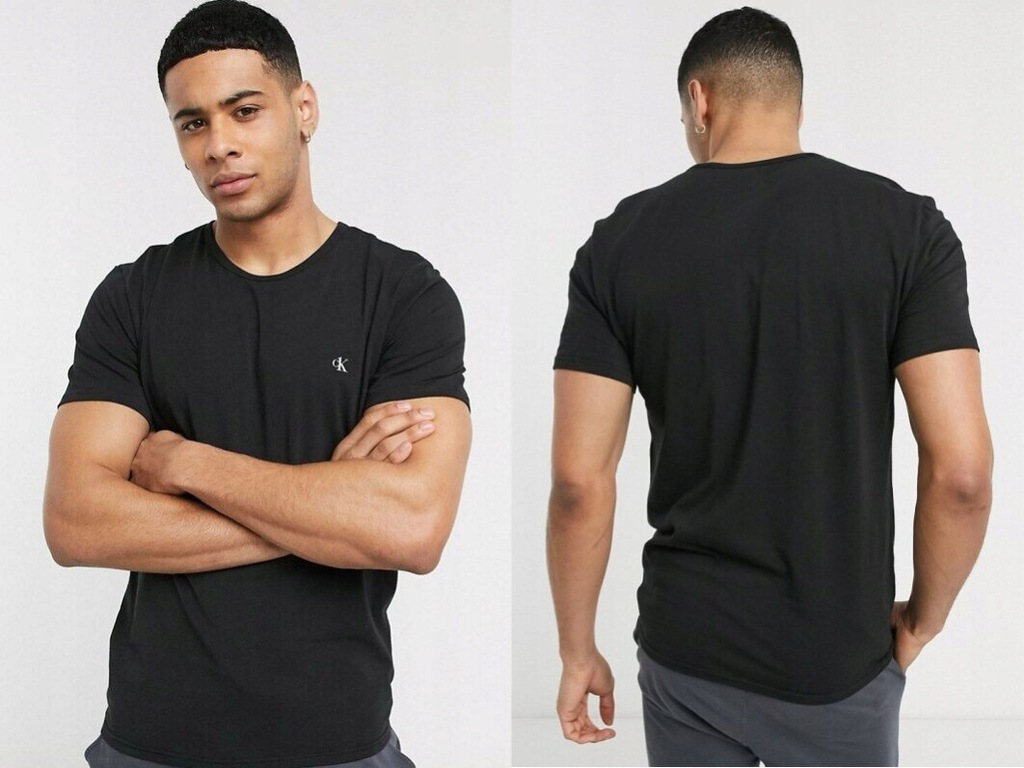 Calvin Klein Czarny t-shirt męskie z logo S