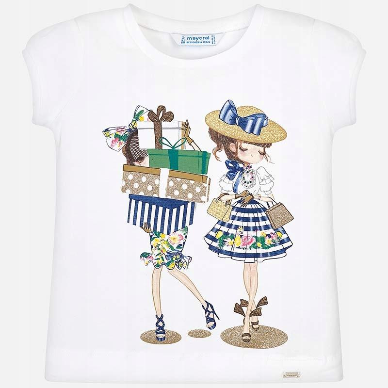 Koszulka z krótkim rękawem 'zakupy' roz. 128 MAYOR