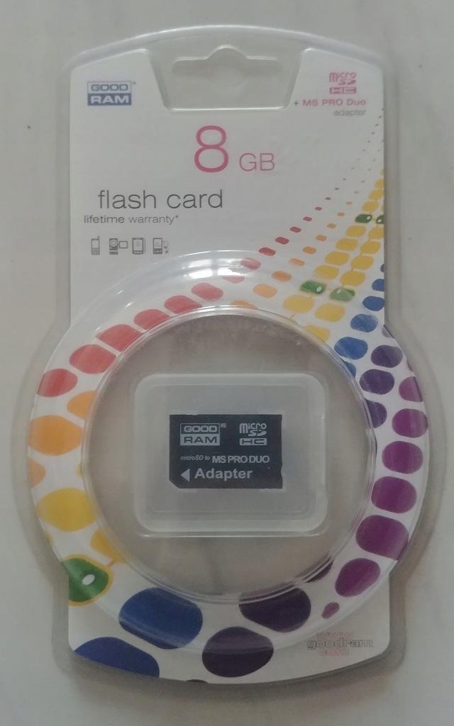 Karta GoodRAM 8GB Adapter Memory Stick PRO DUO