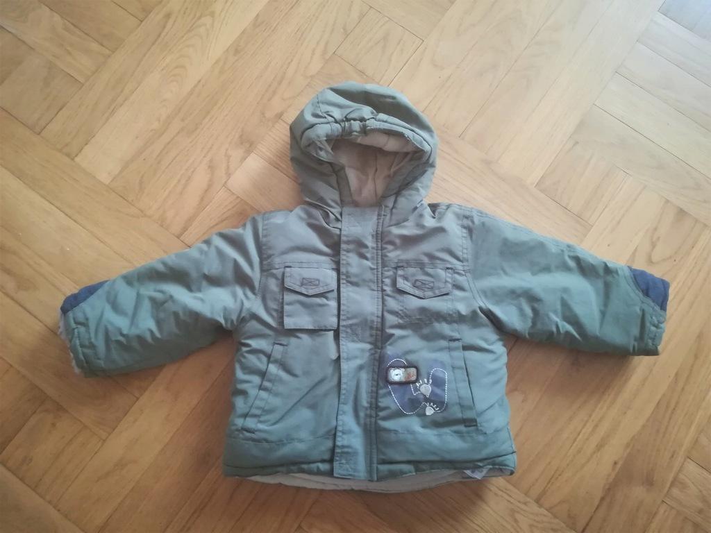 Świetna kurtka zimowa z kapturem COOL CLUB r. 74