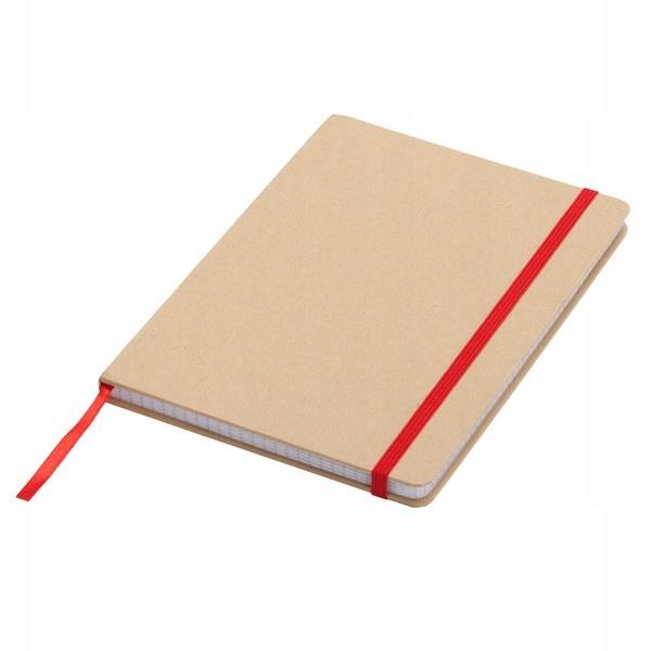 Notatnik 145x210/80k kratka Lisboa, czerwony/beżow