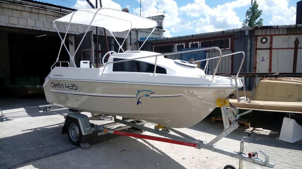 Delfin 435 - łódź motorowa, wędkarska, nowa