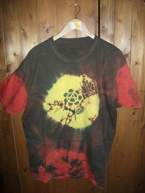 t-shirt, koszulka rasta, barwiona roz XL, anarchia