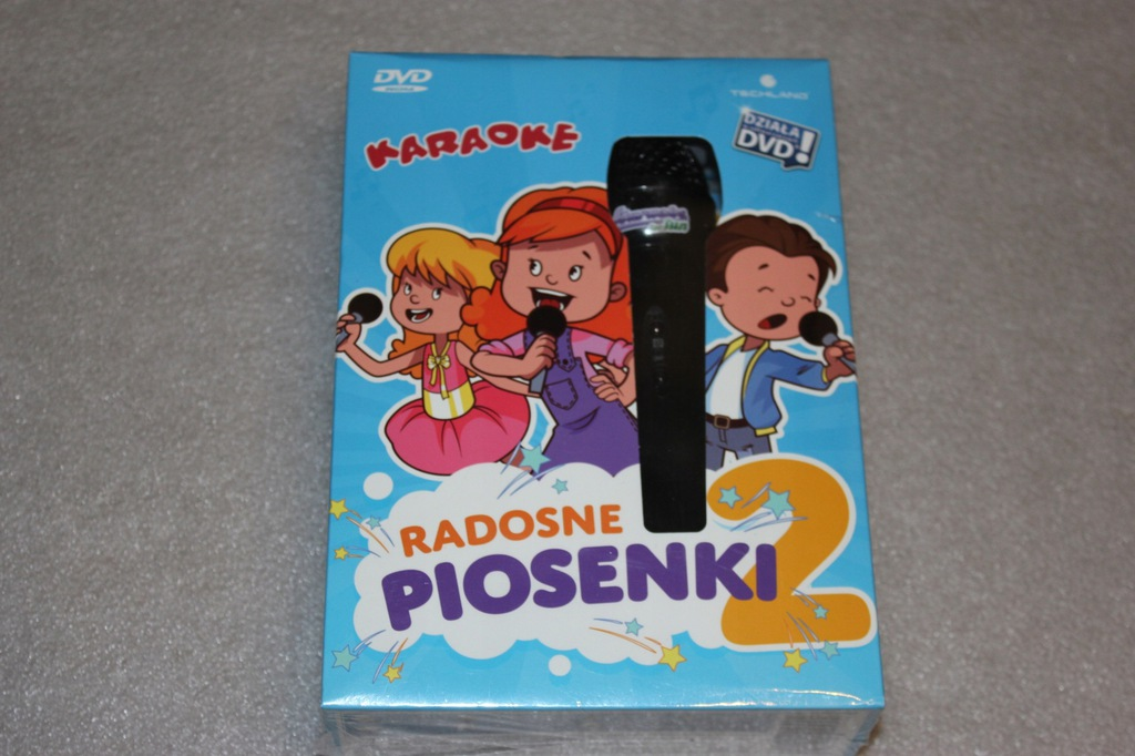 KARAOKE RADOSNE PIOSENKI 2 + MIKROFON NOWE