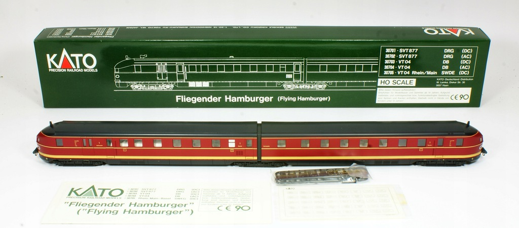 KATO. Flying Hamburger VT 04 000 ab DB III ep.