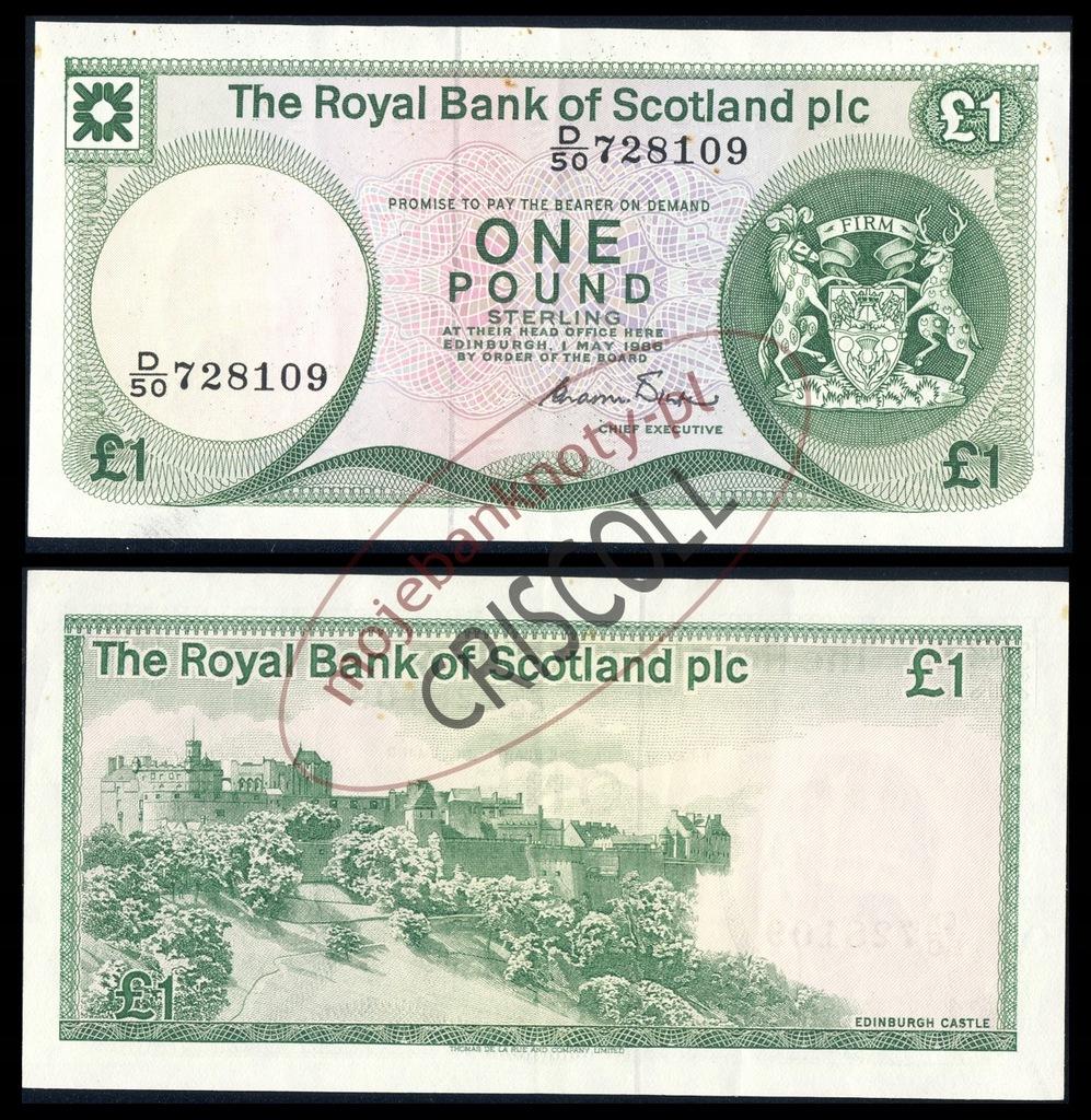 Szkocja 1 funt 1986r. P-341 XF ( 2 )