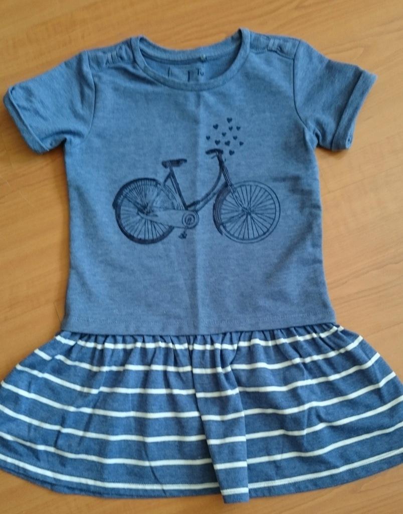 niebieska tunika rower 9 lat rozm 134