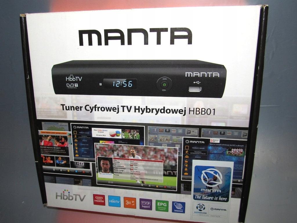 Dekoder DVB-T SMART TV standardu HbbTV MANTA HBB01