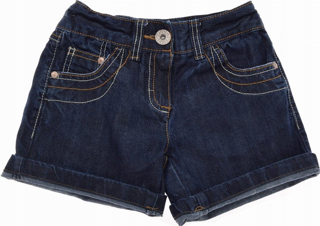 NEXT krótkie spodenki Jeans Szorty Dziewczęce 116