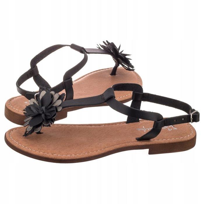 Sandały Damskie Japonki Maciejka IT006 01 Czarne