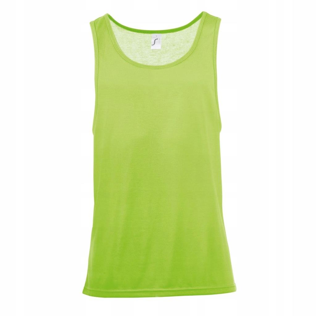 SOLS - koszulka bezrękawnik XL Neonowy zielony