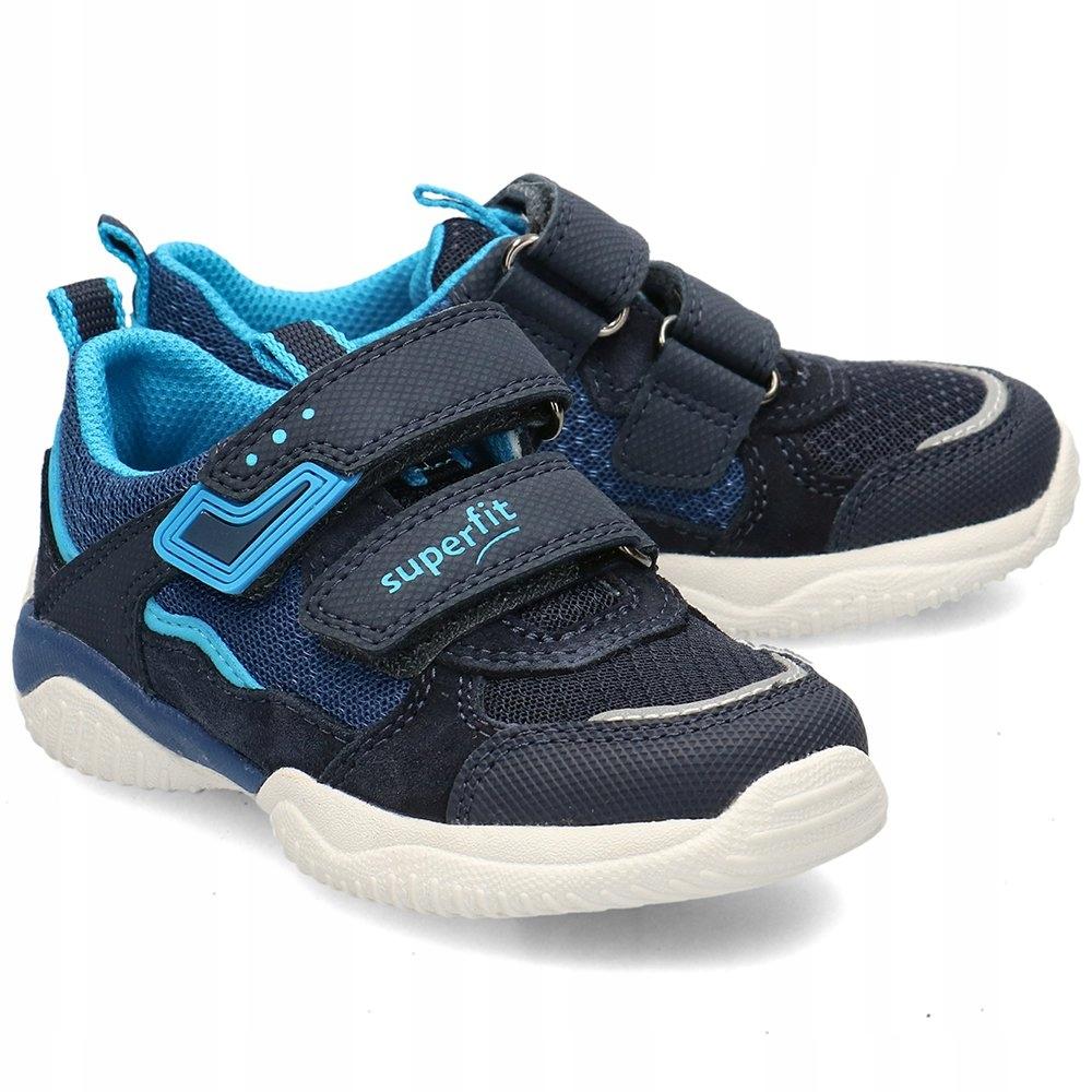 Superfit Granatowe Sneakersy Dziecięce R.29