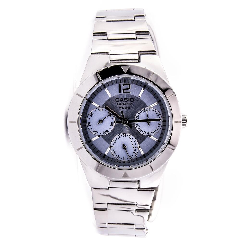 Zegarek CASIO LTP-2069D-2AVEF damski srebrny data