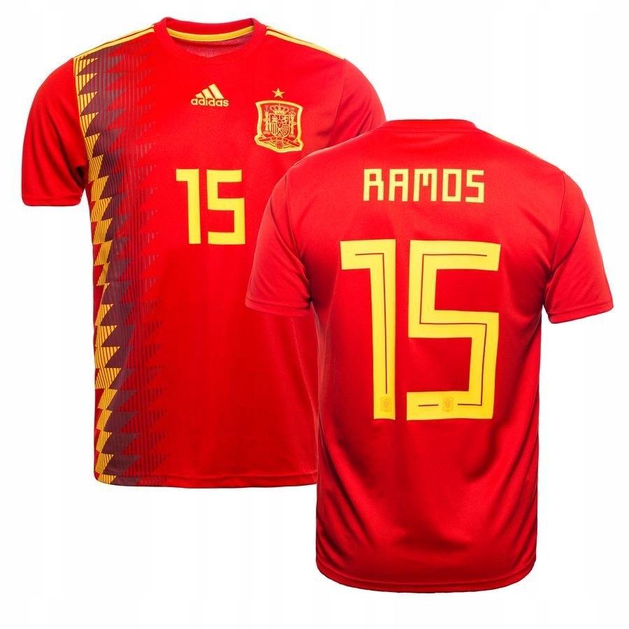Koszulka Reprezentacji Hiszpanii Sergio Ramos 15 7764362375 Oficjalne Archiwum Allegro