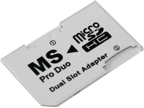 ADAPTER DUAL MICRO SD DO PSP MS PRO DUO 2 SLOTY