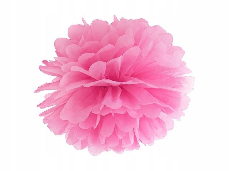 Pompon bibułowy kolor różowy 35cm 100 szt
