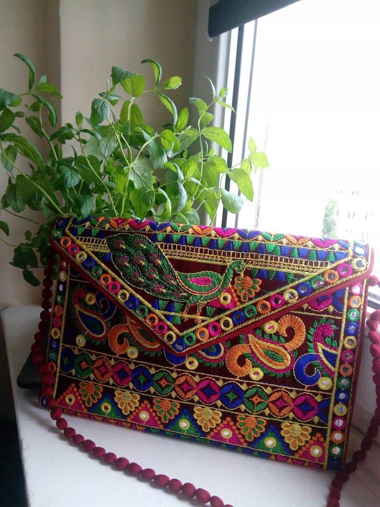 Kolorowa orientalna torebka listonoszka India