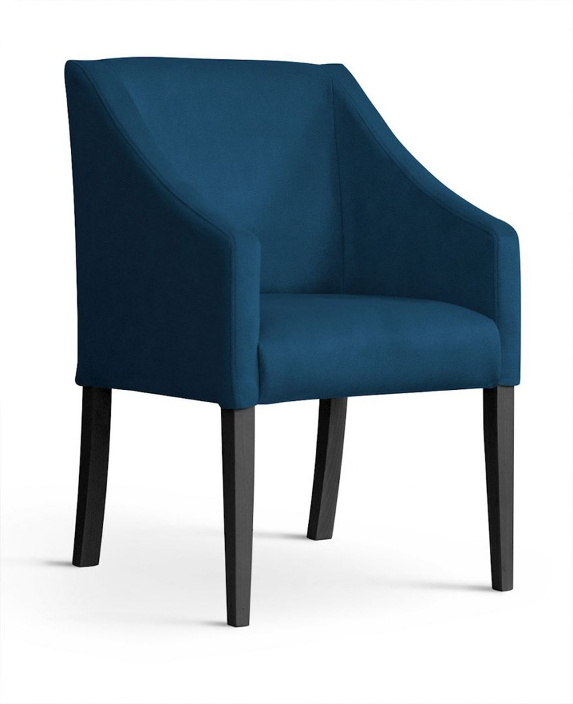 Fotel CAPRI niebieski/ noga czarna/ BL86