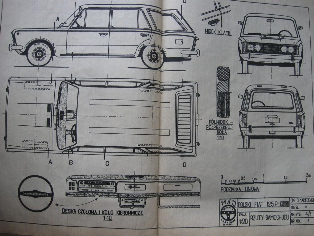 MODELARZ Polski Fiat 125p Combi Plan 1975