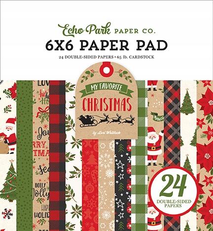 Papiery Echo Park - My Favorite Christmas 15x15cm