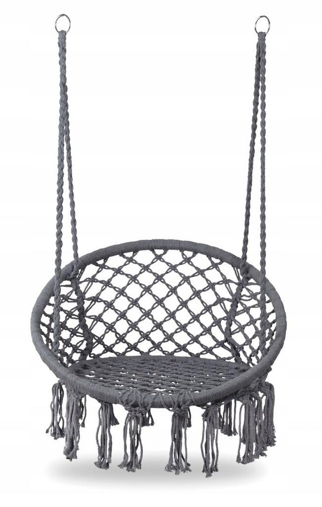Fotel wiszący huśtawka ogrodowa - szary MULTISTORE