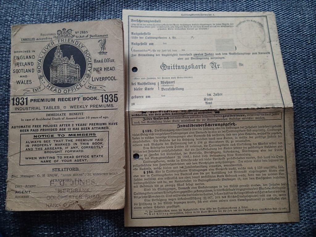 Ubezpieczenie przed śmiercią Liverpool 1931 r