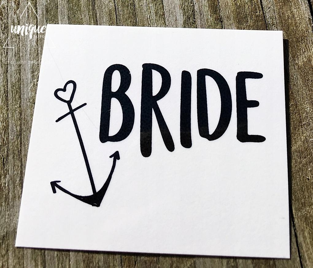 Większy Tatuaż Bride Crew Marynarski Wieczór WAWA