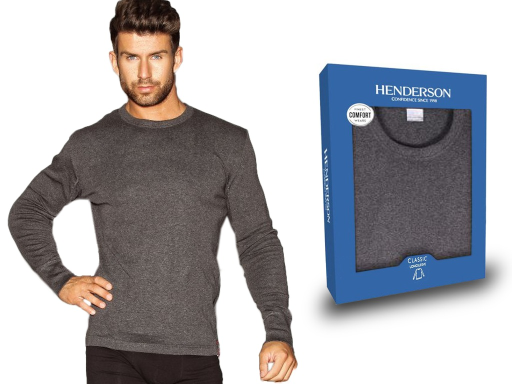 Koszulka DŁUGI RĘKAW Henderson BASIC szary M