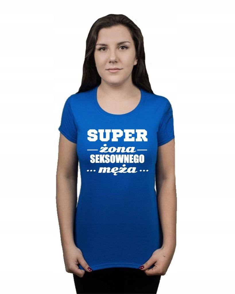 Koszulka damska SUPER ŻONA SEXOWNEGO MĘŻA S