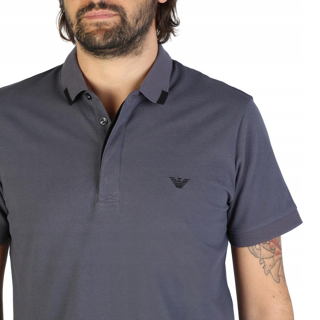 Koszulka polo męska EMPORIO ARMANI 9P461 szara XL