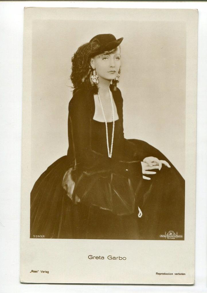 Greta Garbo Kino Film Aktorka Foto Pocztówka 60