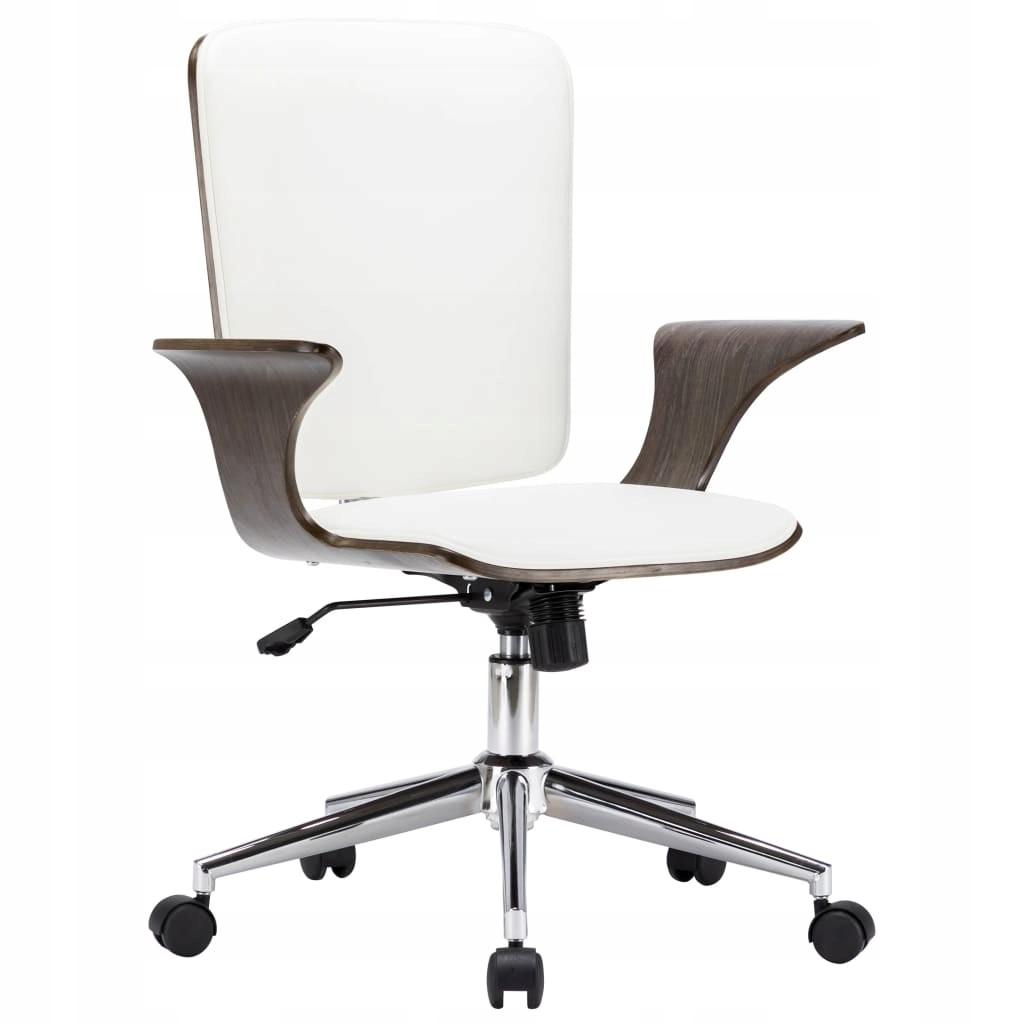 stradeXL Obrotowe krzesło biurowe, białe, sztuczna