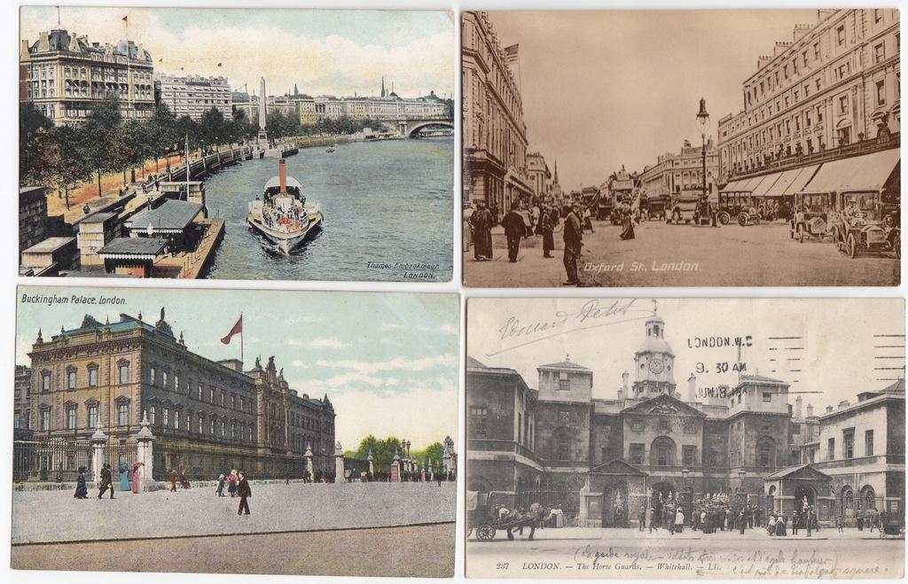 Stare pocztówki LONDYN ( 4 szt. ) 4L62