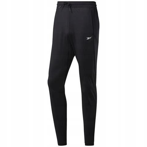 Spodnie męskie Reebok Workout Knit Pant czarne XL