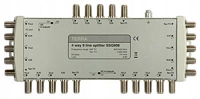 Rozgałęźnik TV/SAT SSQ-908 9-we, 36-wy Terra