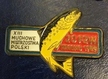 Odznaka wędkarska PZW 13 MMP Krosno 89