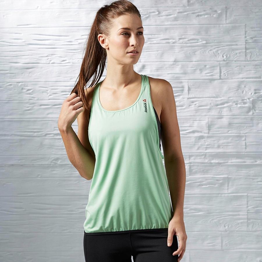 Koszulka Reebok OS Long Bra Top AI1642 L zielony