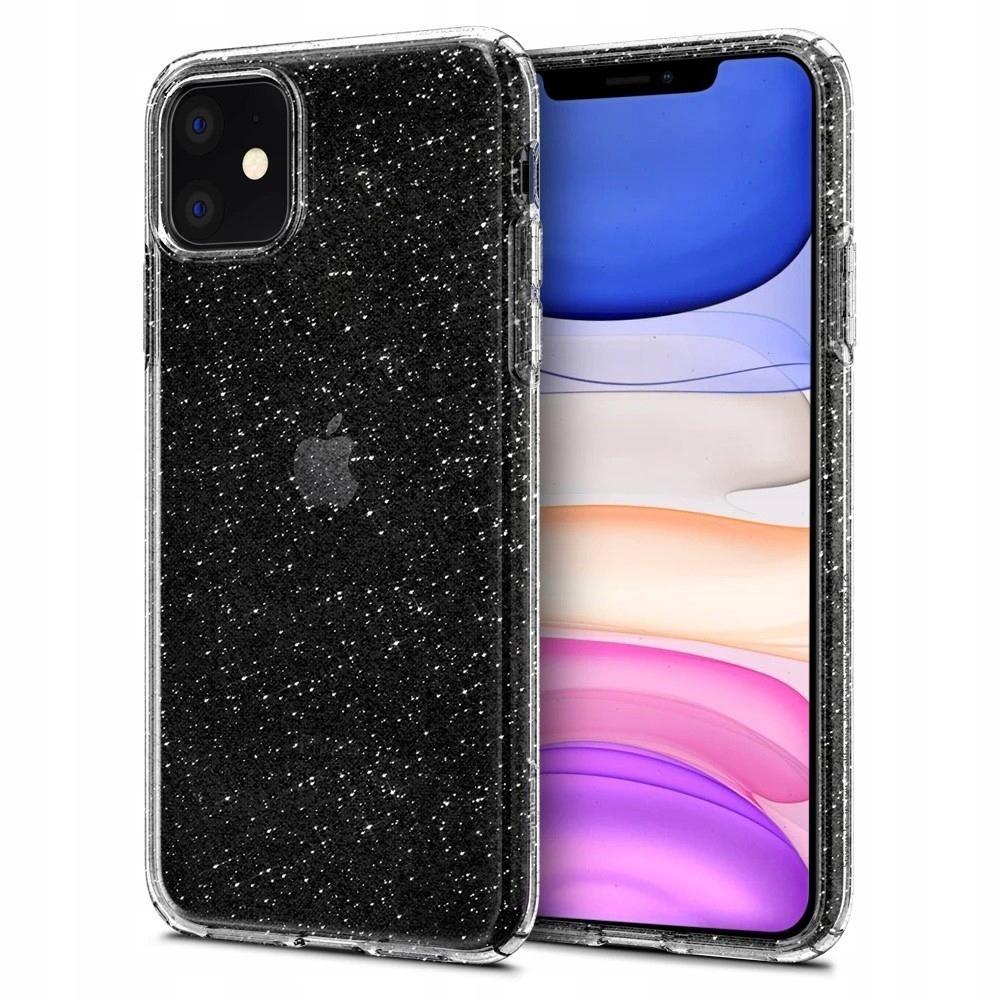 Etui Spigen Liquid Glitter iPhone 11 Turkusowy