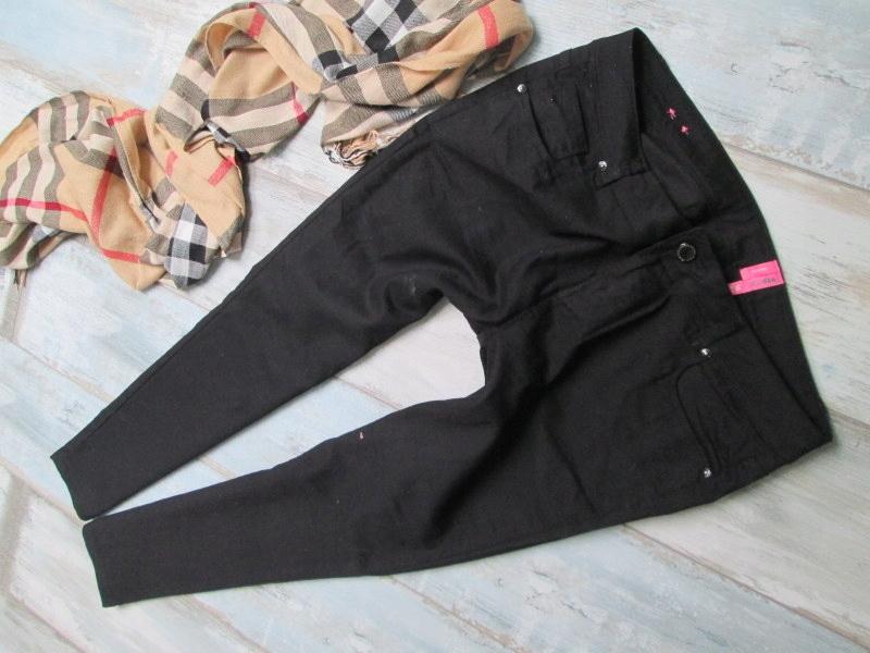 NEW LOOK___RURKI jeans spodnie BLACK stretch__44