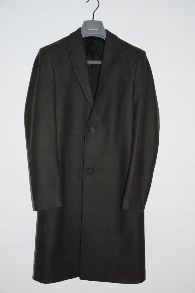 cos zielony płaszcz wełna kaszmir khaki r. 44 S
