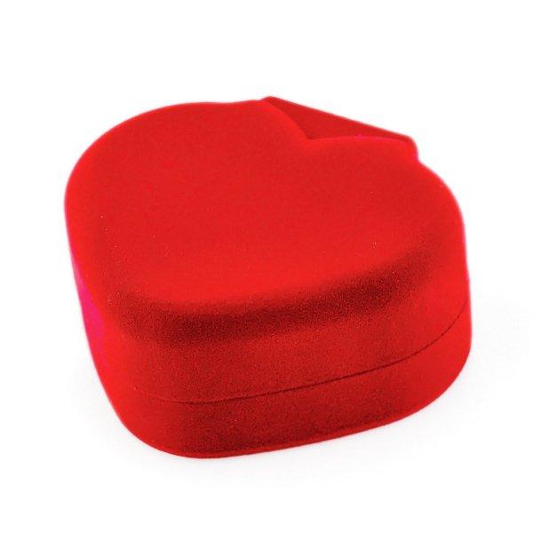 Prezentowe pudełko - serce - czerwone