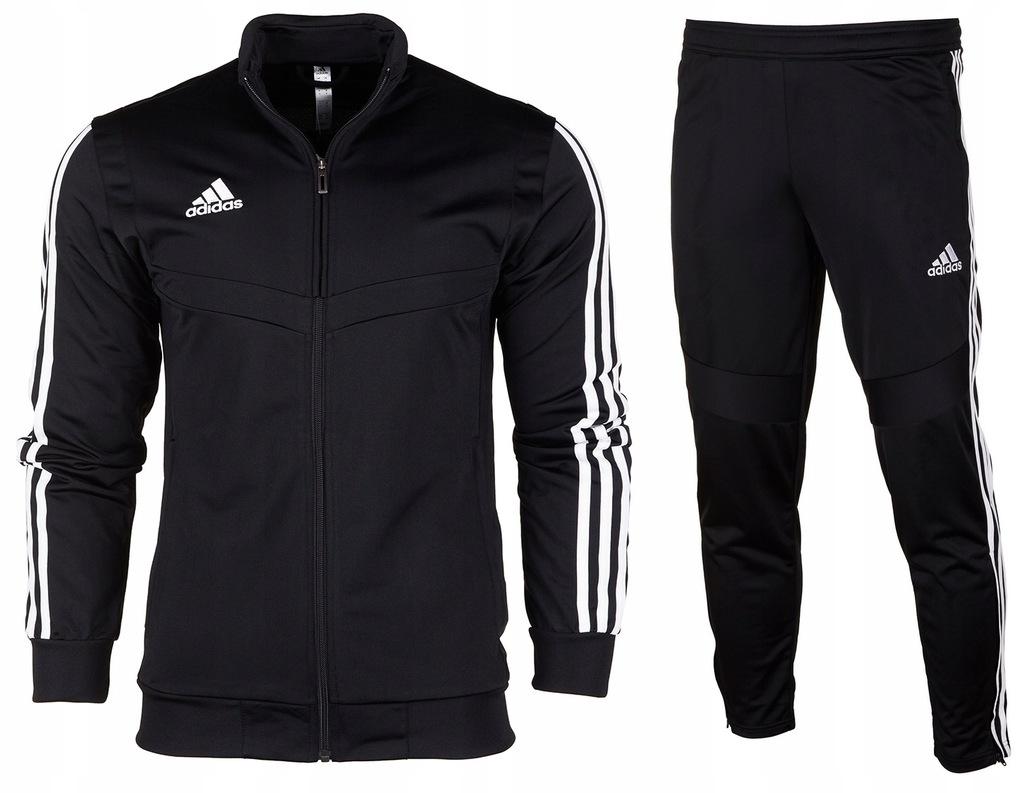 Adidas Dres Komplet JR Spodnie Bluza Tiro 19 r.128