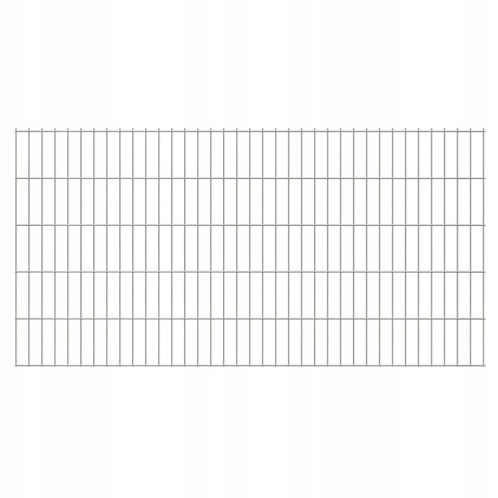 2D Panele ogrodzeniowe 2008x1030 mm 38 m srebrne 1