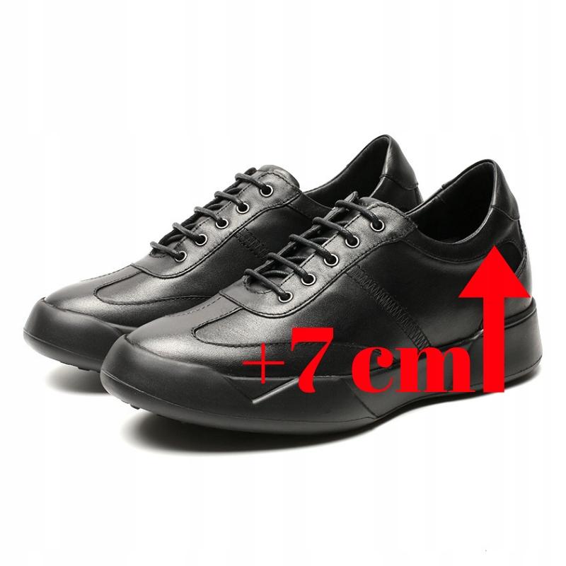 Męskie buty z ukrytym podwyższeniem dodającym 7cm do wzrostu