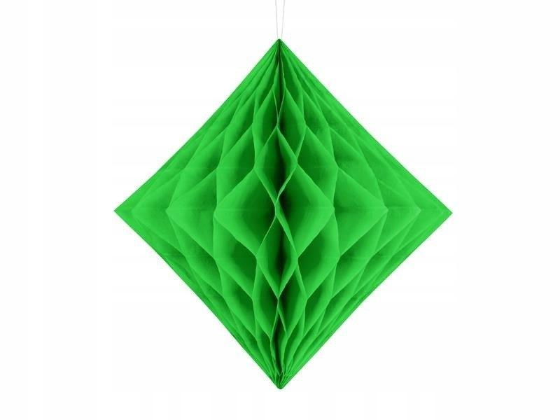 Diament bibułowy jasna zieleń 20cm, 50 szt.