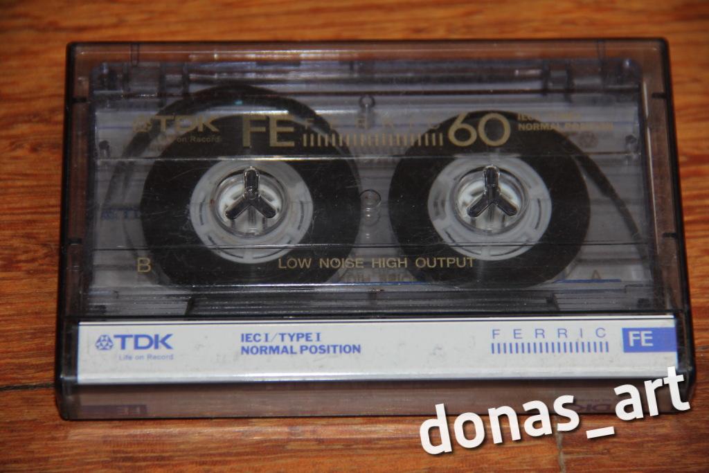 Magnetofonowa KASETA audio FERRIC TDK FE 60 ŻELAZO