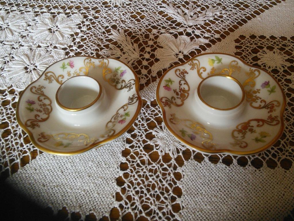 Stare porcelanowe świeczniki Rosenthal 1929-1933